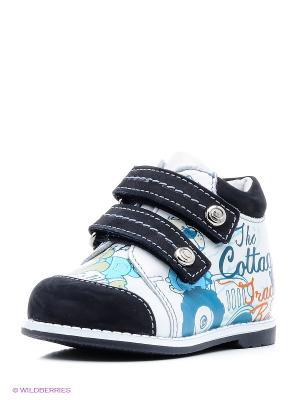 Ботинки ELEGAMI. Цвет: белый, синий