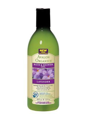 Гель для ванны и душа с маслом лаванды, 355 мл Avalon Organics. Цвет: прозрачный