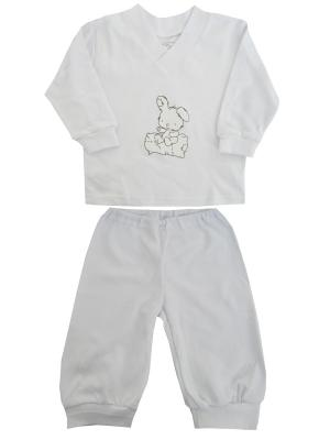 Пижама NICE-KID. Цвет: белый