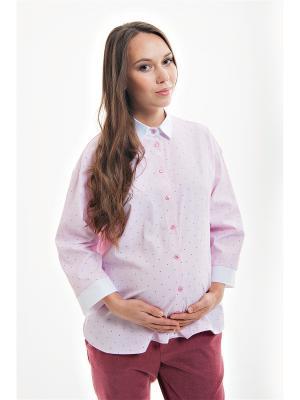 Оверсайз блуза для беременных week by. Цвет: розовый