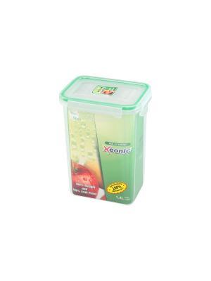 Контейнер герметичный 1.4 л XEONIC CO LTD. Цвет: прозрачный, зеленый
