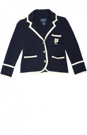 Пиджак джерси Polo Ralph Lauren. Цвет: синий