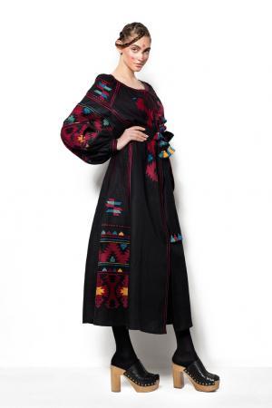 Платье из льна LINEN EAGLE Vita Kin. Цвет: черный, красный