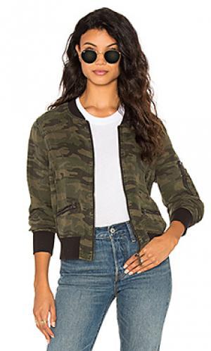 Куртка бомбер Sanctuary. Цвет: военный стиль