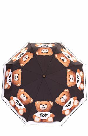 Складной зонт Moschino. Цвет: черно-белый