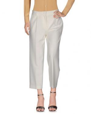 Повседневные брюки TWELVE-T. Цвет: слоновая кость