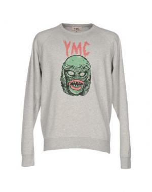 Толстовка YMC YOU MUST CREATE. Цвет: светло-серый