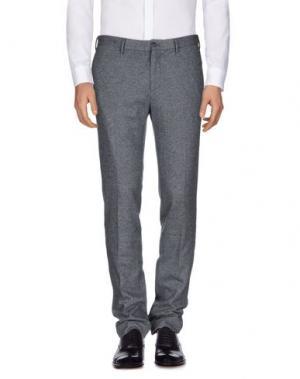 Повседневные брюки G.T.A. MANIFATTURA PANTALONI. Цвет: серый