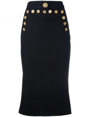 Юбка с пуговицами Dolce & Gabbana. Цвет: синий