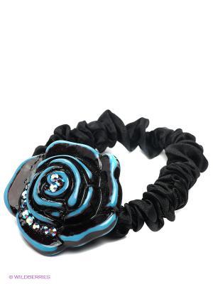 Резинка для волос Selena. Цвет: черный, синий