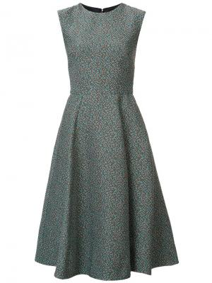 Платье в клетку Monique Lhuillier. Цвет: коричневый