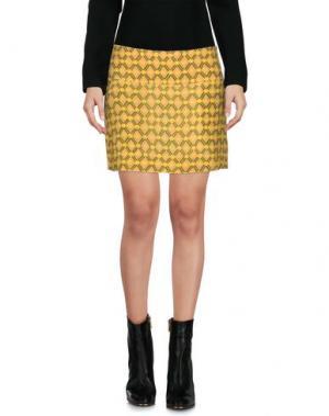 Мини-юбка ASPESI. Цвет: желтый