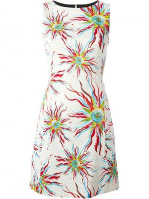 Платье без рукавов Fausto Puglisi. Цвет: белый