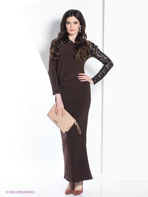 Платье МадаМ Т. Цвет: коричневый, черный