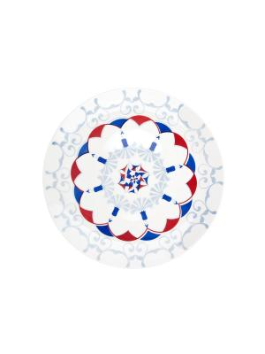 Набор тарелок обеденных СТАМБУЛ 28 см 6 шт Biona. Цвет: голубой