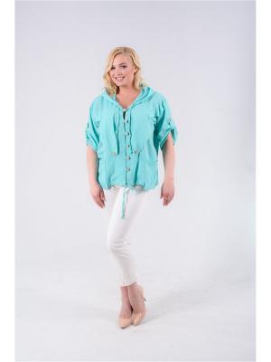 Блузка LadyFreeStyle. Цвет: салатовый