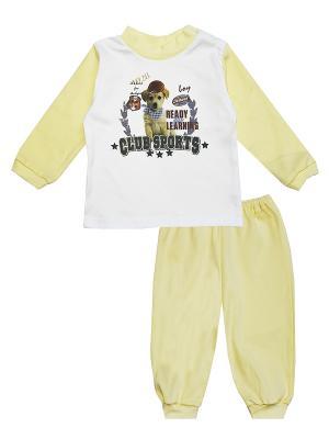 Пижама КОТМАРКОТ. Цвет: белый, желтый