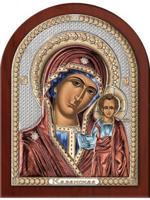 Икона Казанская Божья Матерь (4,5*6,5) NAVELL. Цвет: серебристый