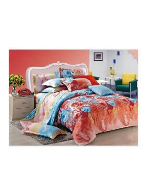 Комплект постельного белья ДУЭТ сатин, рисунок 683 LA NOCHE DEL AMOR. Цвет: терракотовый