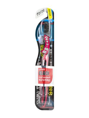 Зубная щетка Black Ultra Slim Plus мягкая DENTALPRO. Цвет: красный