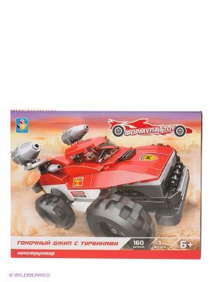 Конструктор Формула 1Toy - Гоночный джип с турбинами (160 деталей). Цвет: красный, черный