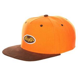 Бейсболка с прямым козырьком  Reefer Orange TrueSpin. Цвет: оранжевый,коричневый