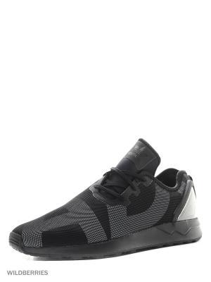 Кроссовки ZX FLUX ADV ASYM Adidas. Цвет: черный