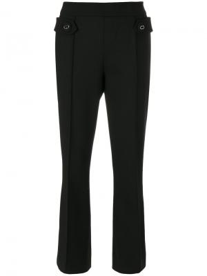 Укороченные расклешенные брюки Prada. Цвет: чёрный