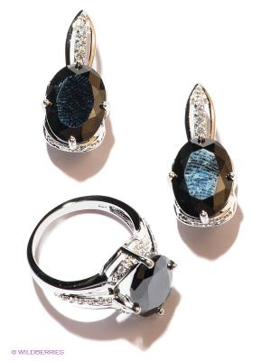 Комплект Lovely Jewelry. Цвет: бордовый, серебристый
