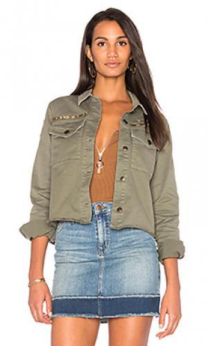 Укороченная куртка в армейском стиле Joes Jeans Joe's. Цвет: военный стиль
