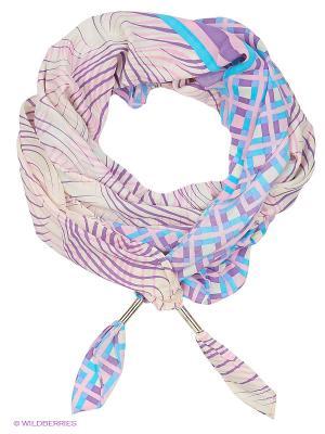 Палантин Eleganzza. Цвет: кремовый, фиолетовый
