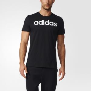 Футболка с принтом LINEAR  Performance adidas. Цвет: черный