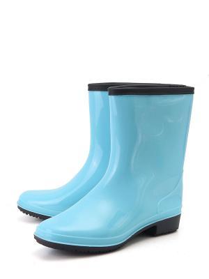 Резиновые сапоги Берёза. Цвет: голубой