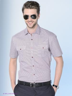 Рубашка Maestro. Цвет: бордовый, белый