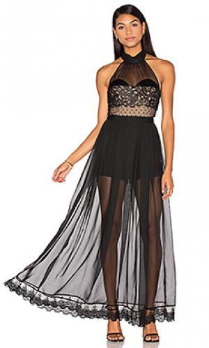 Вечернее платье natural high Three Floor. Цвет: черный