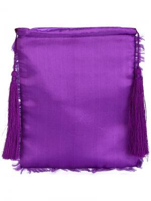 Клатч с бахромой Attico. Цвет: розовый и фиолетовый