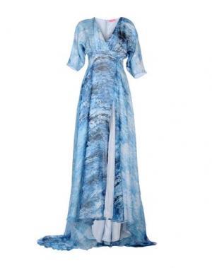 Длинное платье FRANCESCA PICCINI. Цвет: синий