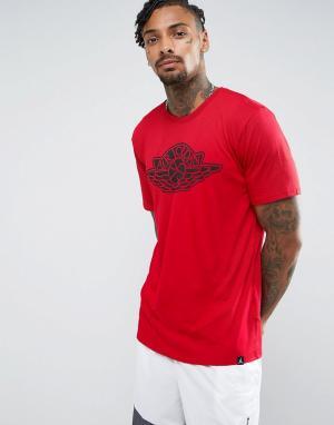 Jordan Красная футболка с логотипом Nike 834476-687. Цвет: красный