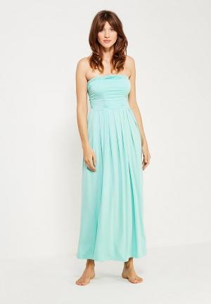 Платье Petit Pas. Цвет: бирюзовый