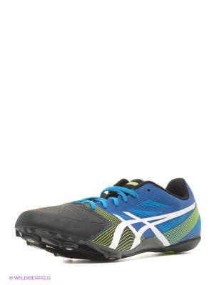 Спортивная обувь HYPERSPRINT 6 ASICS. Цвет: голубой, желтый, белый