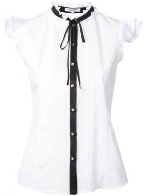 Рубашка без рукавов с завязкой на бант Guild Prime. Цвет: белый