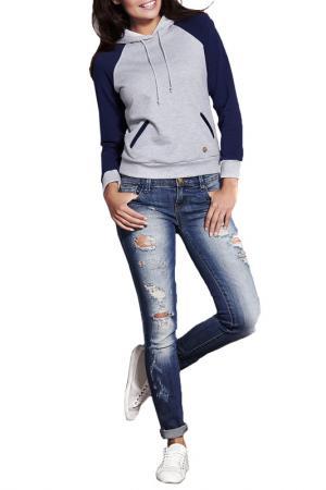Sweatshirt INFINITE YOU. Цвет: blue, grey