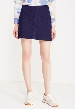 Юбка джинсовая Coquelicot. Цвет: синий