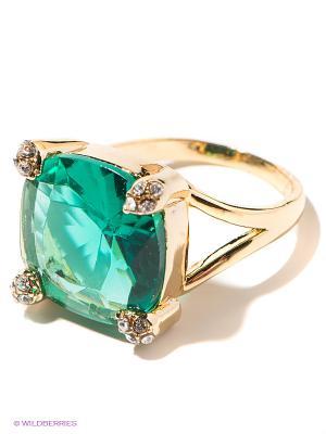 Кольцо Royal Diamond. Цвет: золотистый, зеленый