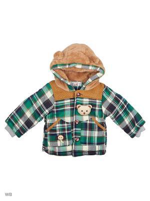 Куртка Happy Bear. Цвет: зеленый, бежевый
