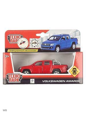 Машина металлическая инерционная  Volkswagen Amarok Технопарк. Цвет: синий