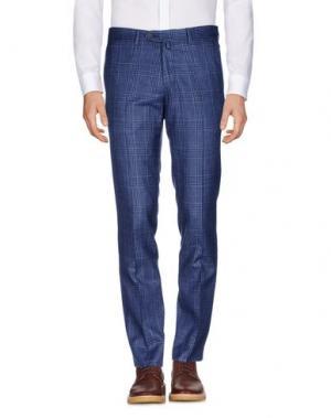 Повседневные брюки LUIGI BORRELLI NAPOLI. Цвет: синий