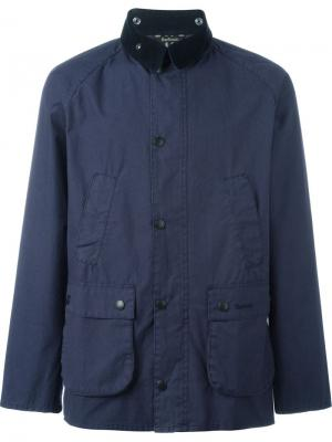 Куртка Washed Bedale Barbour. Цвет: синий