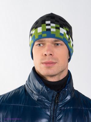 Шапка Viking caps&gloves. Цвет: серый, синий, зеленый