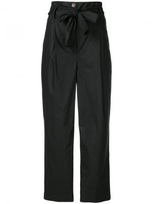 Укороченные брюки с высокой талией Semicouture. Цвет: чёрный